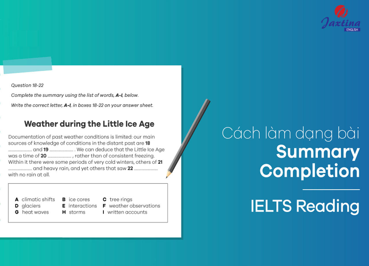 IELTS Reading – Chiến thuật làm dạng bài Summary Completion