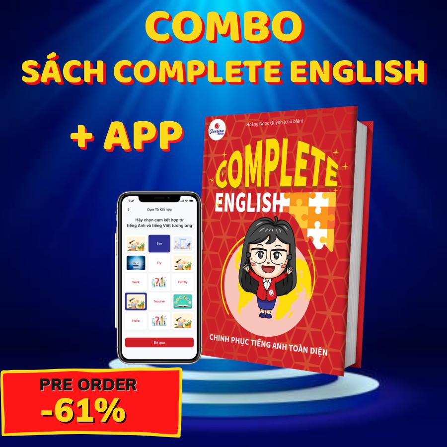 """""""Complete English – Chinh phục Tiếng Anh toàn diện"""" cuốn sách gối đầu giường cho người muốn giỏi Tiếng Anh giao tiếp"""