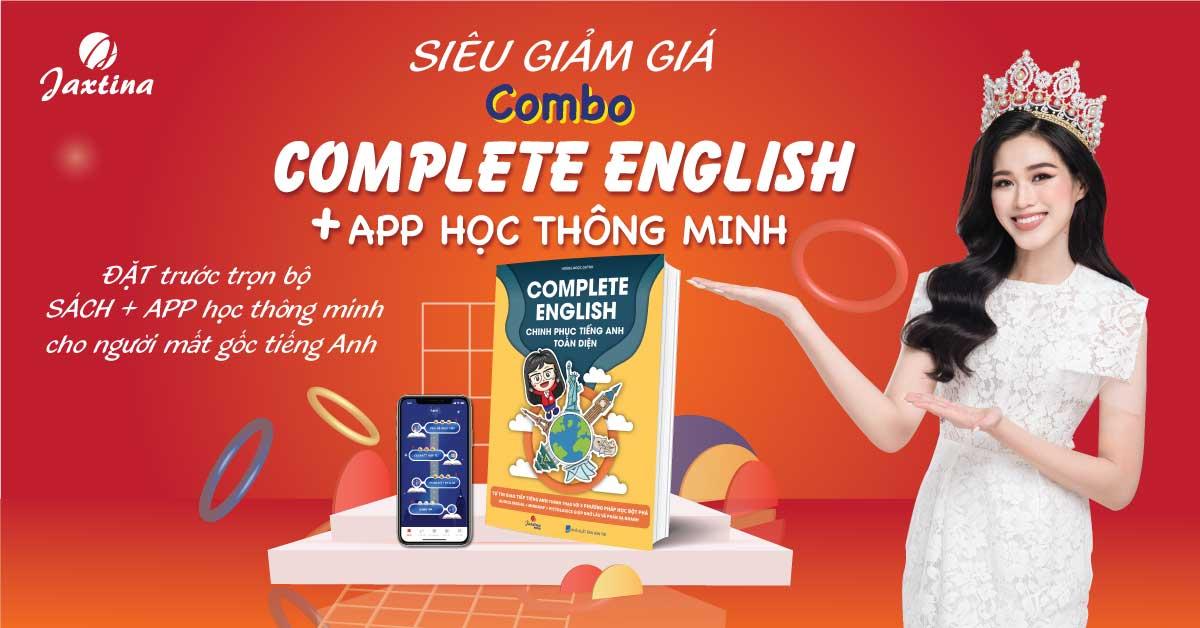 """""""Complete English - Chinh phục Tiếng Anh Toàn Diện"""" cuốn sách gối đầu giường cho người muốn giỏi Tiếng Anh giao tiếp"""