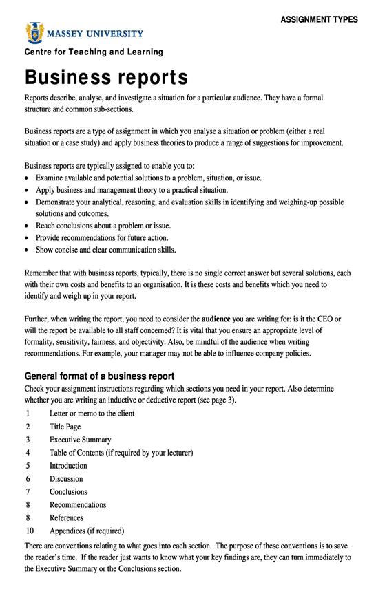 Báo cáo kinh doanh bằng tiếng Anh