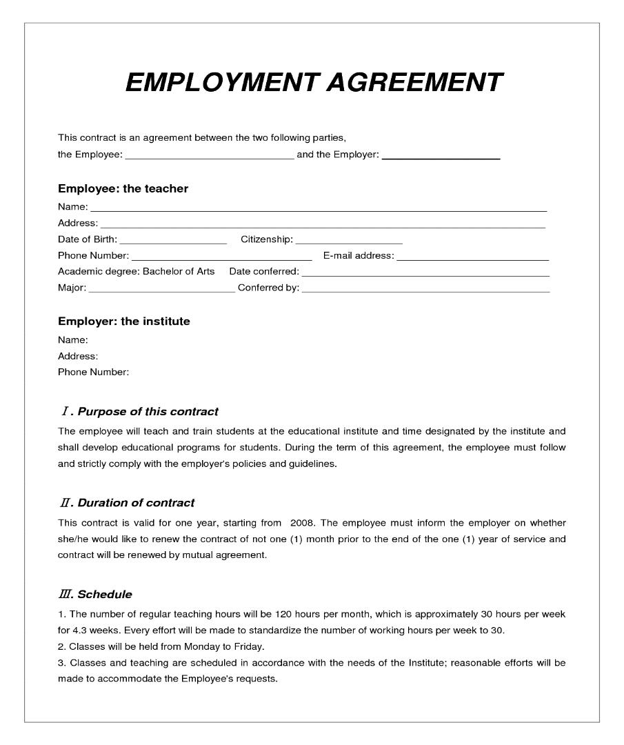 Hợp đồng lao động bằng tiếng Anh